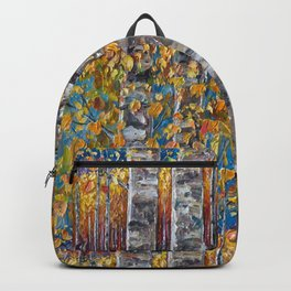 Colorful Autumn Aspen Trees  Backpack