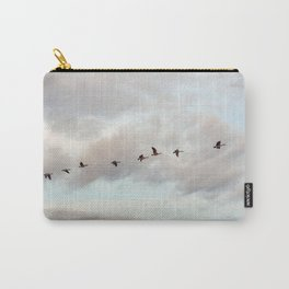 Migration of the Birds // Mountain and Sky Meets Nature Landscape Photography of Wildlife Carry-All Pouch