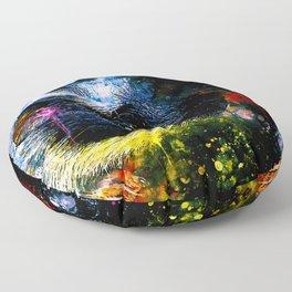 guinea pig colorful side portrait wsstd Floor Pillow