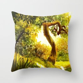 Mind's Eye - Light Throw Pillow