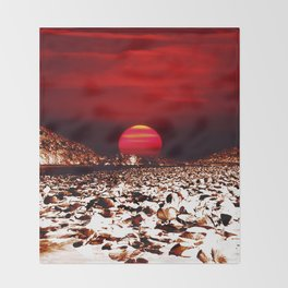 Landscape and Mars Throw Blanket