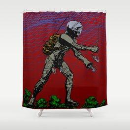 In Martian Fields Shower Curtain