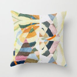 abstract color play Throw Pillow