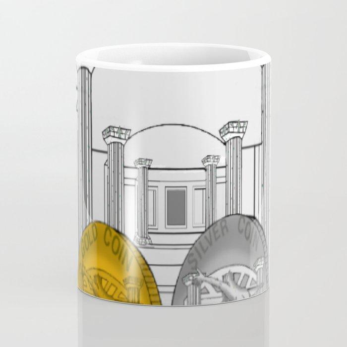 Necropolis Coins Gold and Silver 1 Coffee Mug
