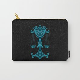 Blue Libra Zodiac Sign in the Stars Carry-All Pouch