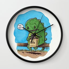 """lunch in the city"" Wall Clock"