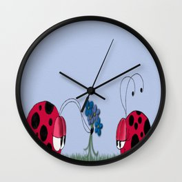 Flowers For My Love Wall Clock