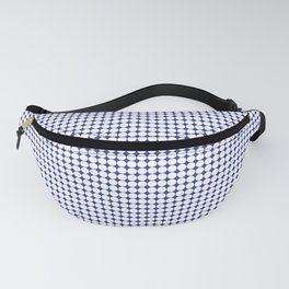 Navy Blue and White Polka Dot Pattern Fanny Pack