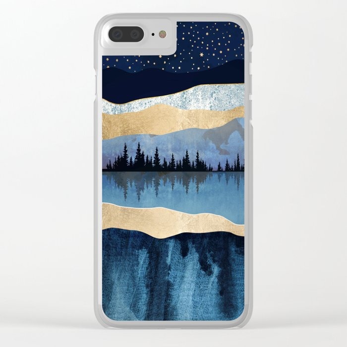 Midnight Lake Clear iPhone Case