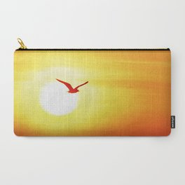 Seagull on sunset background Carry-All Pouch