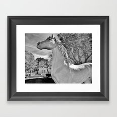 Magick horse Framed Art Print