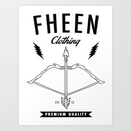 Fheen Clothing  Art Print