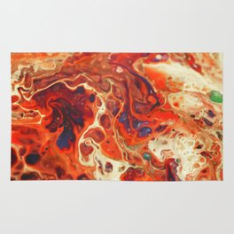 Volcano, Pour Painting, Abstract Rug