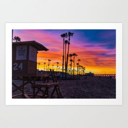 Dawn at Tower 24 Art Print