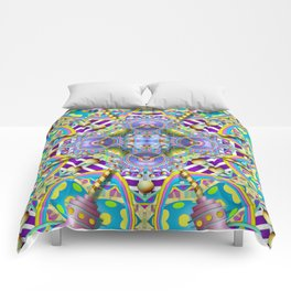Perpetual Psychedelic Machine Comforters