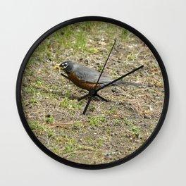 Robin's Breakfast Grub Wall Clock