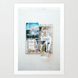 Greek ads. Art Print