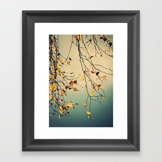 A poem from nature Framed Art Print