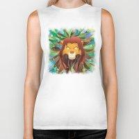 simba Biker Tanks featuring Spirit of The Lion King by EmeraldSora