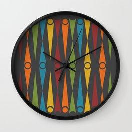 Mid-Century Pattern No. 49 Wall Clock