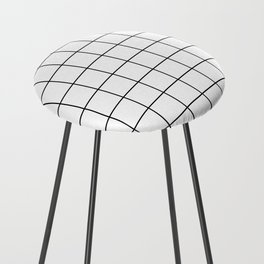 Black and White Thin Grid Graph Counter Stool