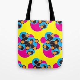 Retro Bubble Hearts Tote Bag