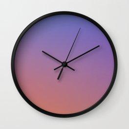 OXIDISED METAL - Minimal Plain Soft Mood Color Blend Prints Wall Clock