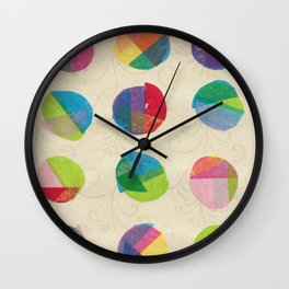 Again with the Retro Dots  Wall Clock