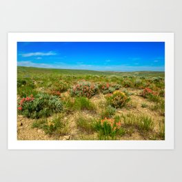 Wild West Painted Plains - Wyoming Art Print