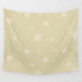 Snow Flakes pattern Yellow #homedecor #nurserydecor Wall Tapestry
