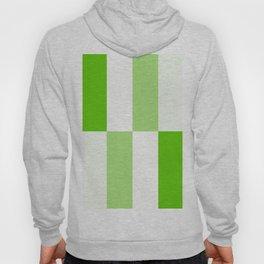 Green and white Block gradient Hoody