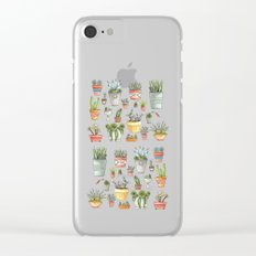 Potted Succulents Clear iPhone Case