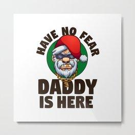 Gangster Santa Claus Metal Print