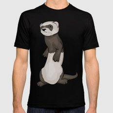 Wild Ferret Black Mens Fitted Tee LARGE