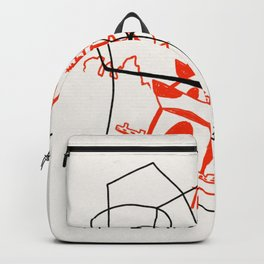 Chinese Food Takeout - Contour Line Drawing Backpack