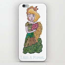 I Am A Forest iPhone Skin