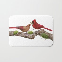 Northern  Cardinals Bath Mat