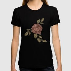 Rose Womens Fitted Tee LARGE Black
