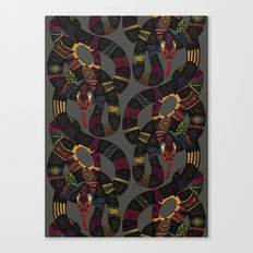 geo snakes lead Canvas Print
