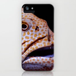 Coral Grouper Being Cleaned iPhone Case