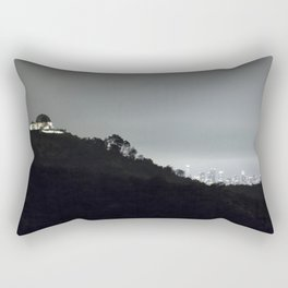 Griffith Park Observatory and Los Angeles Skyline at Night Rectangular Pillow