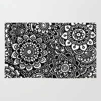 zentangle Area & Throw Rugs featuring Zentangle by Pato Silveira