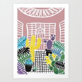 Cacti & Succulent Greenhouse Art Print