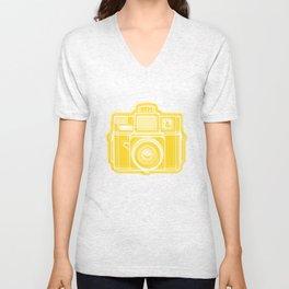 I Still Shoot Film Holga Logo - Sunshine Yellow Unisex V-Neck