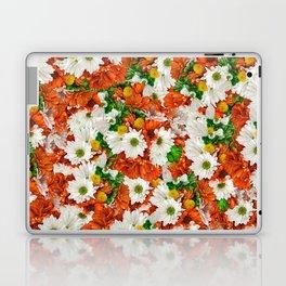 Rusty Cloudy Daisies Laptop & iPad Skin