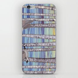Canada geese, hedgehogs, and autumn birch trees iPhone Skin