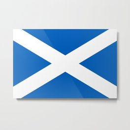 Flag of Scotland - High quality image Metal Print
