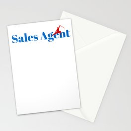 Sales Agent Ninja in Action Stationery Cards