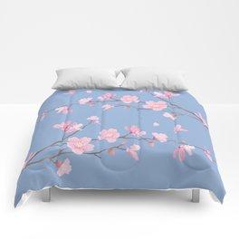 Cherry Blossom - Serenity Blue Comforters
