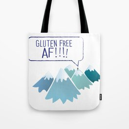 Gluten-Free AF Mountain Top Tote Bag